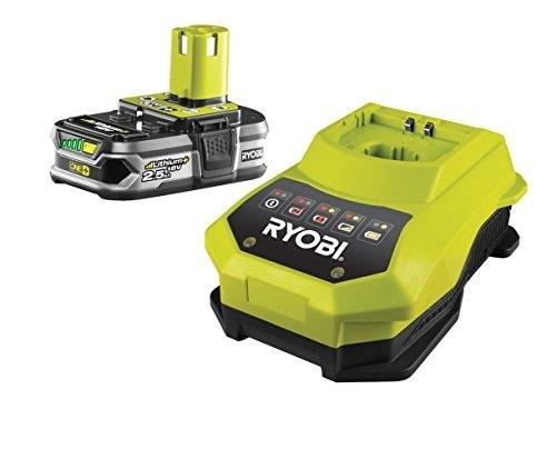 Ryobi RBC18L25 18 V / 2,5 Ah Lithium+ Akku und 100 min. Schnellladegerät BCL14181H