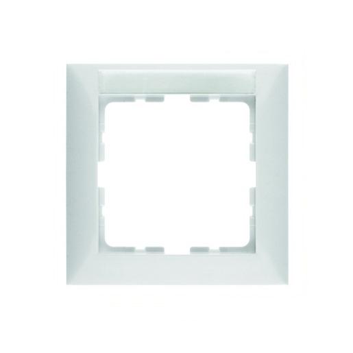 Abdeckrahmen 1-fach mit Schriftfeld weiß glänzend Berker S.1