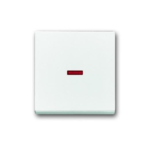 Wippe mit roter Kalotte future linear studioweiß Busch-Jaeger