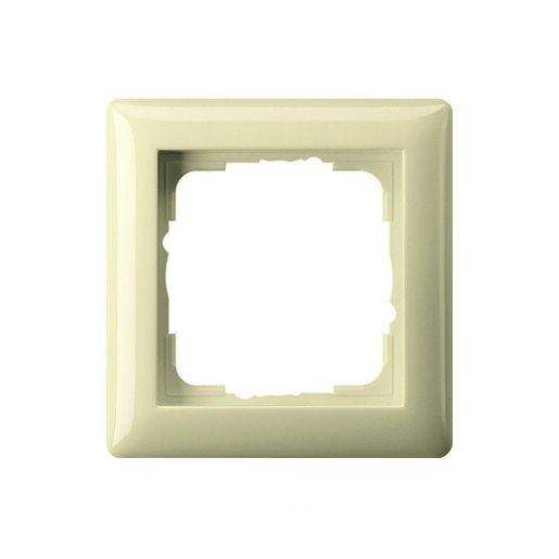 Abdeckrahmen 1-fach Standard 55 cremeweiß glänzend Gira