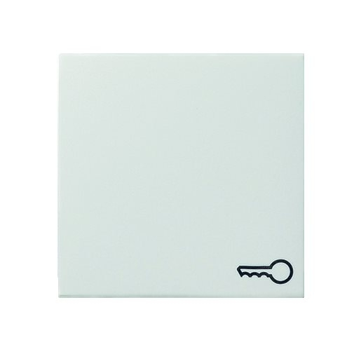 Wippe Symbol Tür reinweiß glänzend Gira