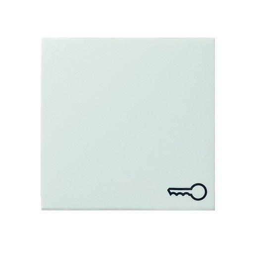Wippe Symbol Tür reinweiß seidenmatt Gira