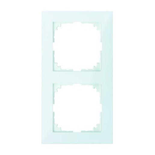 Abdeckrahmen 2-fach Pure polarweiß glänzend Merten