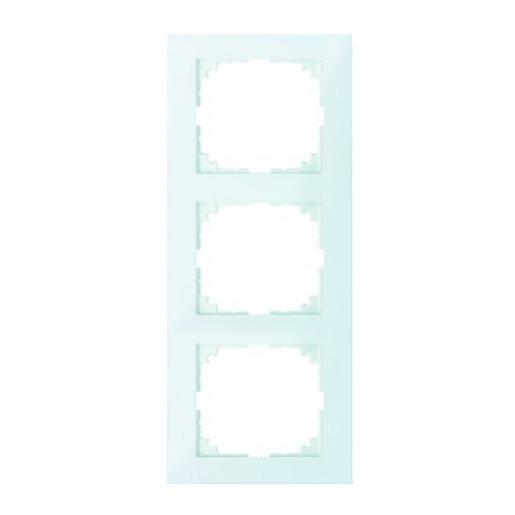 Abdeckrahmen 3-fach Pure polarweiß glänzend Merten