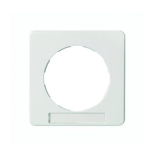 Zentralplatte mit Schriftfeld für drehbare Steckdose Schneider ELSO antibakteriell reinweiß