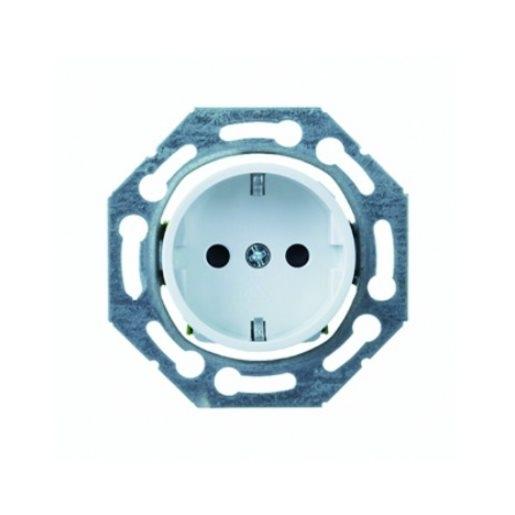 Steckdosen-Einsatz drehbar mit Berührungsschutz perlweiß Schneider ELSO