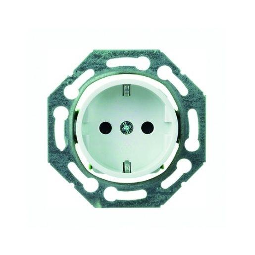 Steckdosen-Einsatz drehbar mit Berührungsschutz reinweiß Schneider ELSO