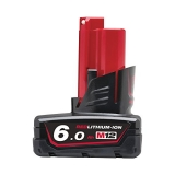 Milwaukee Akku M12 B6 (12 V/6.0 Ah Li-Ion) Red Li-Ion