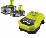 Ryobi RBC18LL 18 V / 1,5 Ah + 18 V / 4,0 Ah Lithium+ Akku und 180 min. Schnellladegerät BCL14181H