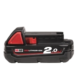 Milwaukee Akku M18 B2 (18 V/2.0 Ah Li-Ion) Red Li-Ion