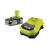 Ryobi RBC18L15 One+ 18 V / 1,5 Ah Lithium + Akku und 60 min. Schnellladegerät BCL14181H