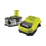 Ryobi RBC18L40 18 V / 4,0 Ah Lithium+ Akku und 120 min. Schnellladegerät BCL14181H