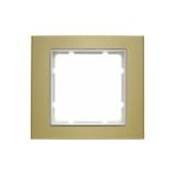 Abdeckrahmen 1-fach gold/polarweiß matt Berker B.3
