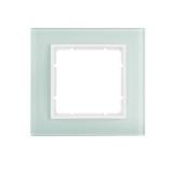 Abdeckrahmen 1-fach Glas polarweiß/polarweiß matt Berker B.7
