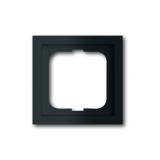 Abdeckrahmen 1-fach future linear schwarz matt Busch-Jaeger