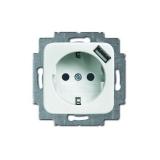 USB-Steckdose mit Berührungsschutz 20EUCBUSB-214 alpinweiß