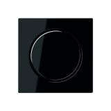 Abdeckung mit Drehknopf für Dimmer schwarz Jung A500