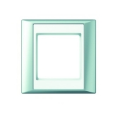 Abdeckrahmen 1-fach aluminium-alpinweiß Jung A plus