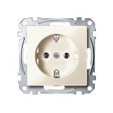 SCHUKO Steckdosen-Einsatz weiß glänzend Merten System M